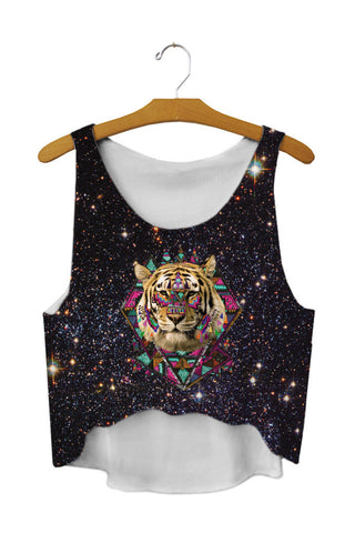 Tiger Galaxy Tank Top - A Stoners Heaven
