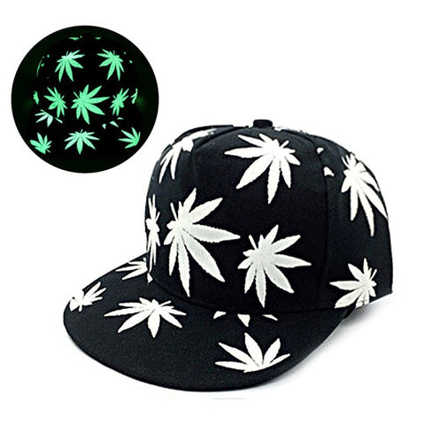 Marijuana Leaf Snapback (Glow In The Dark Pack)