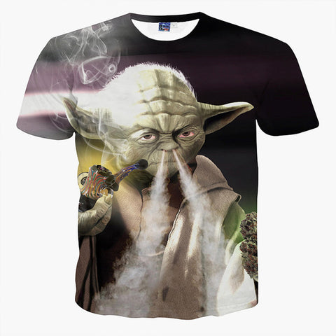 Yoda Smoking Weed Pipe T-Shirt - A Stoners Heaven