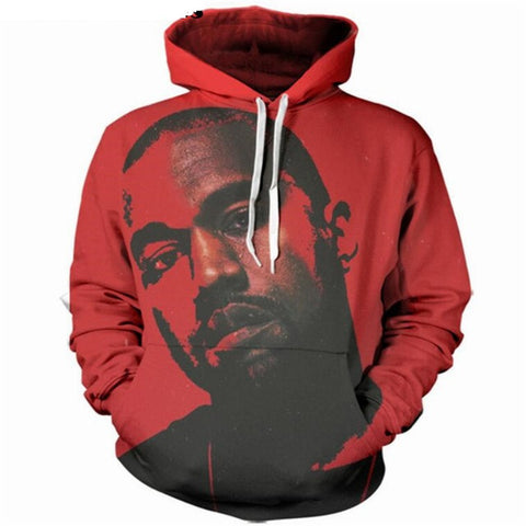 3D Kanye West Red Hoodie - A Stoners Heaven