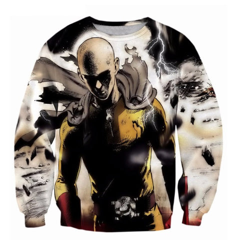 3D Saitama 'Destruction' Sweatshirt - A Stoners Heaven
