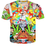 3D 'Drugs' Unisex T-Shirt - A Stoners Heaven