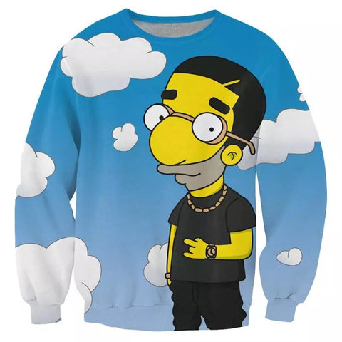 3D Simpsons Milhouse Sweatshirt