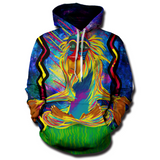 Colorful Meditating Rafiki Hoodie