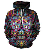 Mexican Day of the Dead Skull Hoodie
