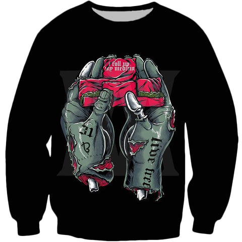 Zombie Hands Rolling Up Sweatshirt