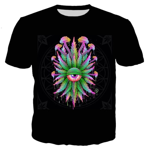 Stoned Mushrooms Black T-Shirt