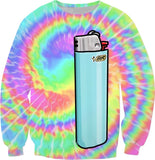Tie Dye Cartoon Lighter Sweatshirt
