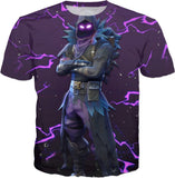 Fortnite Purple Lightning Raven T-Shirt