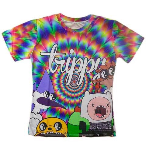 Trippy Adventure Time T-Shirt - A Stoners Heaven
