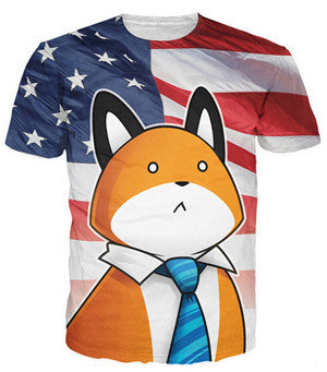 USA Fox T-Shirt - A Stoners Heaven