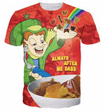 Leprechaun 'Always After Me Dabs' T-Shirt - A Stoners Heaven