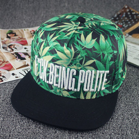 Weed 'F*ck Being Polite' Snapback - A Stoners Heaven