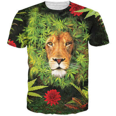 3D Weed Lion T-Shirt - A Stoners Heaven
