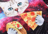 Cat Taco Pizza Galaxy Hoodie - A Stoners Heaven
