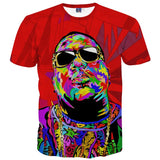 Biggie Smalls Abstract T-Shirt - A Stoners Heaven