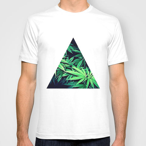 Weed Leaf Triangle T-Shirt - A Stoners Heaven