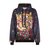 3D Abstract Tiger Hoodie - A Stoners Heaven