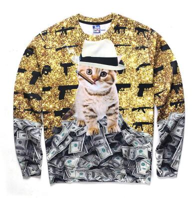 Don Cat Smoking Sweatshirt - A Stoners Heaven