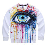 Crying Eyes Ocean Tears Sweatshirt - A Stoners Heaven