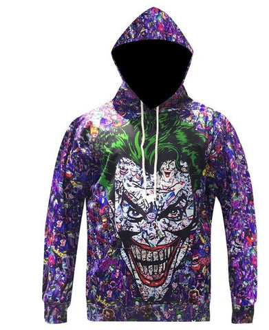 Joker 'The Many Faces' Hoodie - A Stoners Heaven