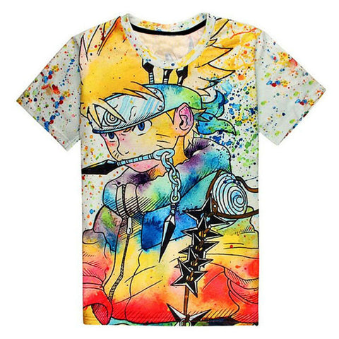 3D Naruto Paint Splatter T-Shirt