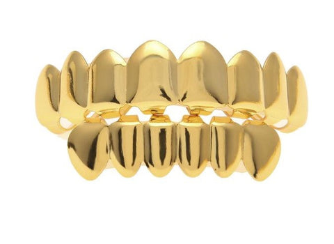 Gold Plated & Silver Plated Teeth Grillz - A Stoners Heaven