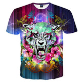 Lightning Flowers Tiger T-Shirt - A Stoners Heaven