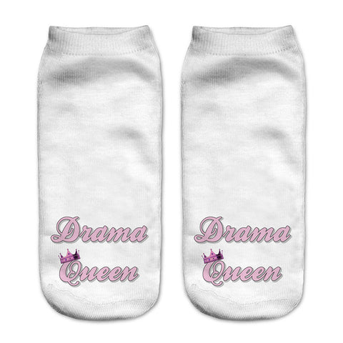 Drama Queen Women Ankle Socks - A Stoners Heaven