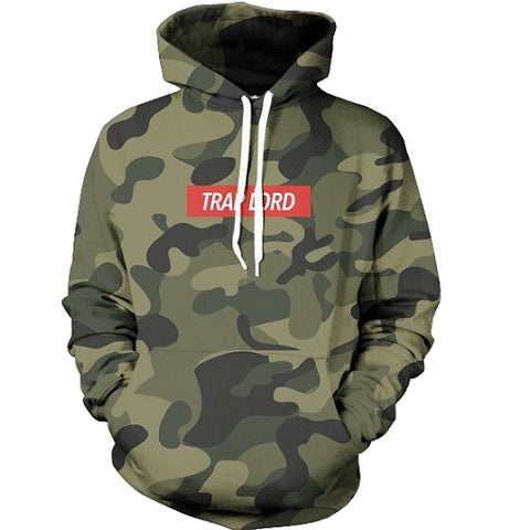 Trap Lord Camo Hoodie - A Stoners Heaven