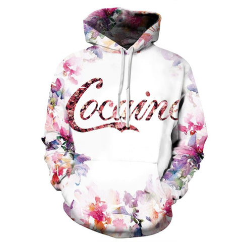 3D Cocaine Flower Hoodie - A Stoners Heaven