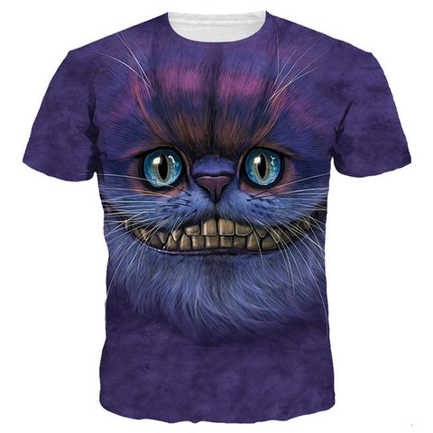 3D Cheshire Cat T-Shirt - A Stoners Heaven