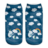 Unicorn Clouds Women Ankle Socks - A Stoners Heaven