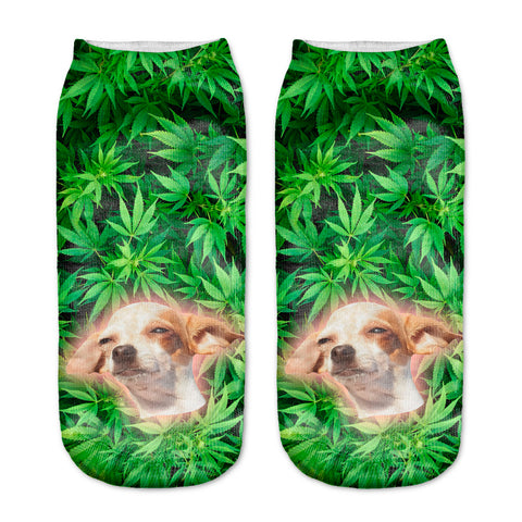 Stoned Dog Women Ankle Socks - A Stoners Heaven