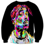 Tupac Shakur Black Abstract Sweatshirt - A Stoners Heaven