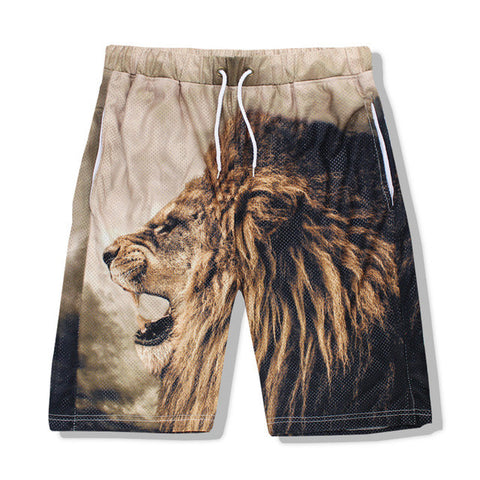 3D Lion Beach Shorts - A Stoners Heaven