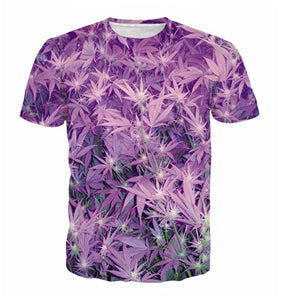 Purple Weed T-Shirt - A Stoners Heaven