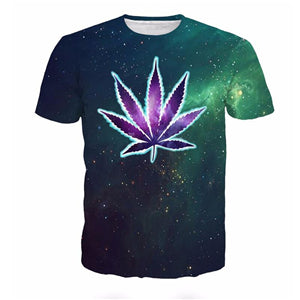 3D Marijuana Galaxy T-Shirt - A Stoners Heaven