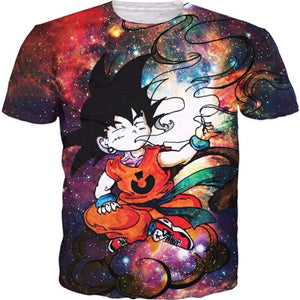 Kid Goku 'High In Space' T-Shirt - A Stoners Heaven