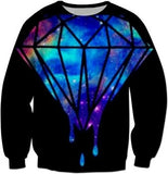Diamond Galaxy Black Sweatshirt