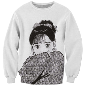 3D Anime Girl Sweatshirt