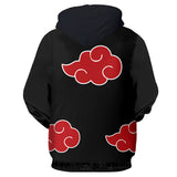 Red Clouds Zip Up Hoodie
