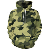 Army Green Camouflage Hoodie