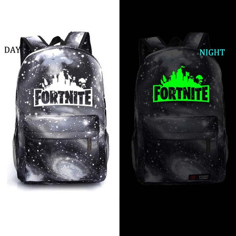 Fortnite B & W Glow In The Dark Galaxy Backpack