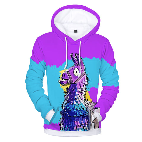 Fortnite Purple & Blue Llama Hoodie