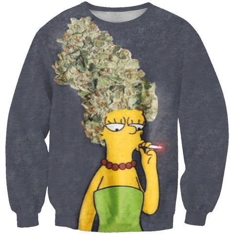 Marge Simpsons Weed Head Sweatshirt