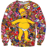 Homer Simpson Intoxicated Sweatshirt