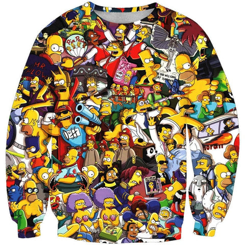 The Simpsons Character Mash-up Sweatshirt