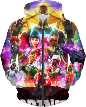 Fortnite All Stars (Zip Hoodie, T-Shirt, Sweatshirt)