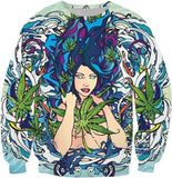 Mermaid Aqua Weed Sweatshirt